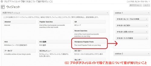 Wordpress Popular Posts 設定